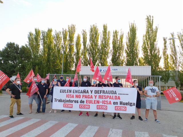 TOLEDO | Toda la plantilla de Eulen en ICSA secundan la primera de los diez días de huelga