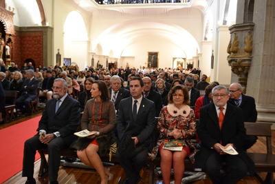 Primer acto religioso tras la reapertura de la iglesia de San Prudencio