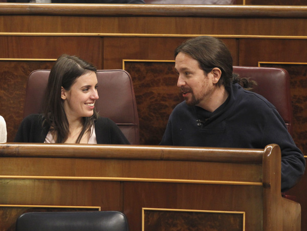 Irene Montoro y Pablo Iglesias / Imagen GTresonline