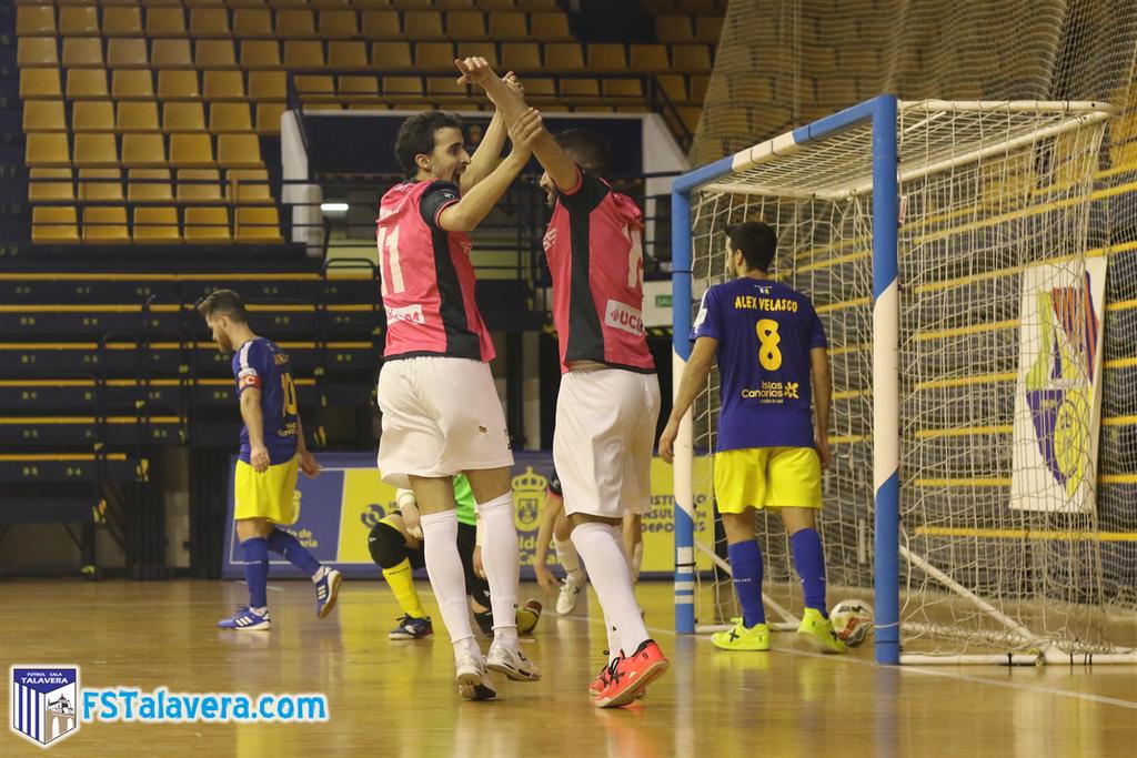 El Soliss FS Talavera supera el asedio del juego de cinco y vence en Las Palmas