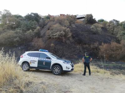 Un detenido por provocar un incendio en Escalona al tirar un cigarrillo mal apagado