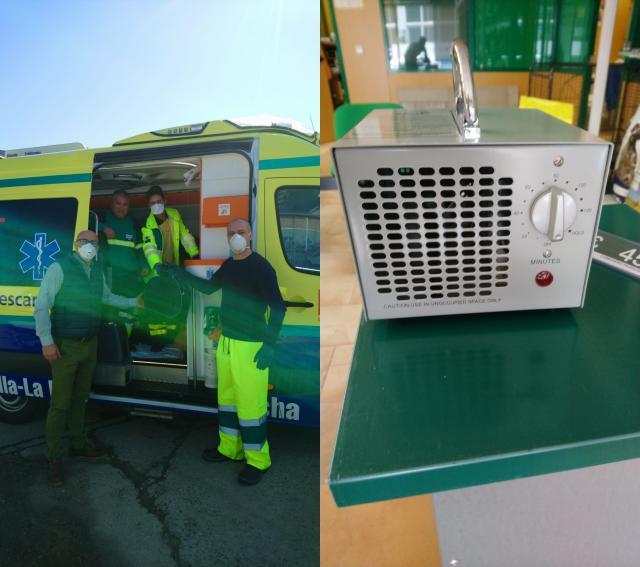 VÍDEO | RFE y Piensos Nuga donan dos máquinas de ozono para desinfectar ambulancias