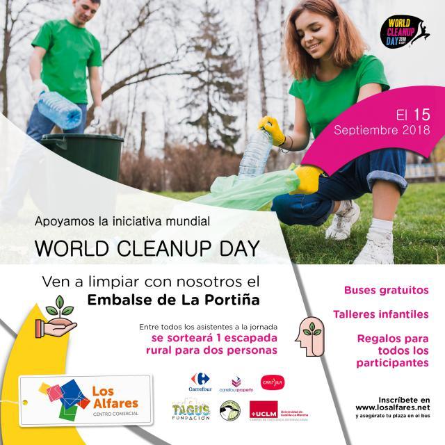 Los Alfares escoge el embalse de La Portiña para celebrar el Día Mundial de la Limpieza de la Naturaleza