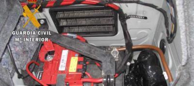 Detenido en Otero con más de un kilo de cocaína en el maletero de su vehículo