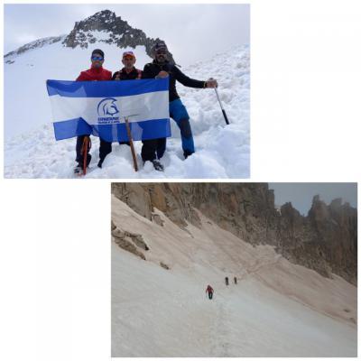 Espartanos Talavera sube al Glaciar del Aneto