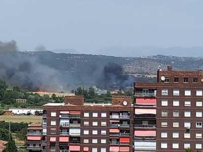 26 personas y 7 medios trabajan en el incendio forestal de Talavera