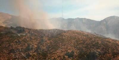 Nuevo incendio forestal en Candeleda desde esta mañana