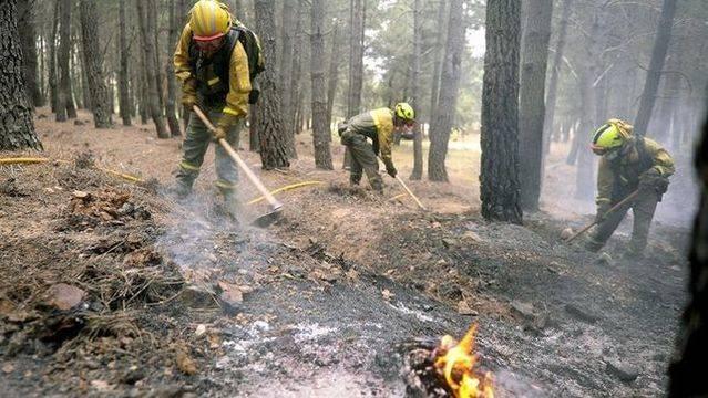 Extinguido el incendio declarado ayer en Las Herencias