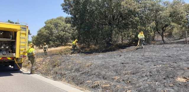 Extinguido un nuevo incendio forestal en Cazalegas (fotos)