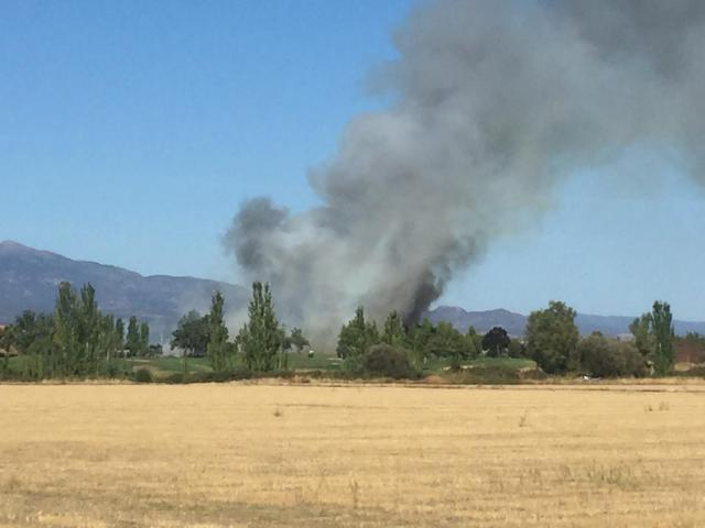 Susto en Talavera por un incendio forestal en las proximidades del campo de golf