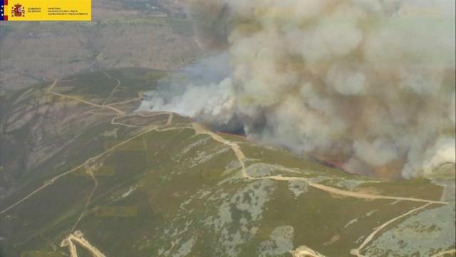Los incendios de Medinilla (Ávila) y Cabezabellosa (Valle del Jerte) están estabilizados