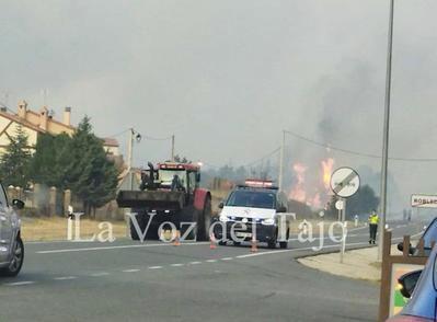 Castilla y León pide apoyo a CLM por un peligroso incendio