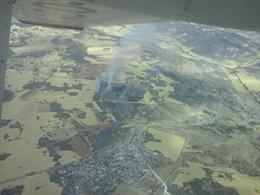 Imagen del incendio en Guadalajara / Foto: INFOCAM