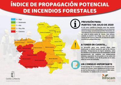 HOY | Calor sofocante y riesgo muy alto de incendios en Talavera, Sierra de San Vicente y Oropesa