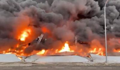SESEÑA | Los bomberos dan por extinguido el espectacular incencio