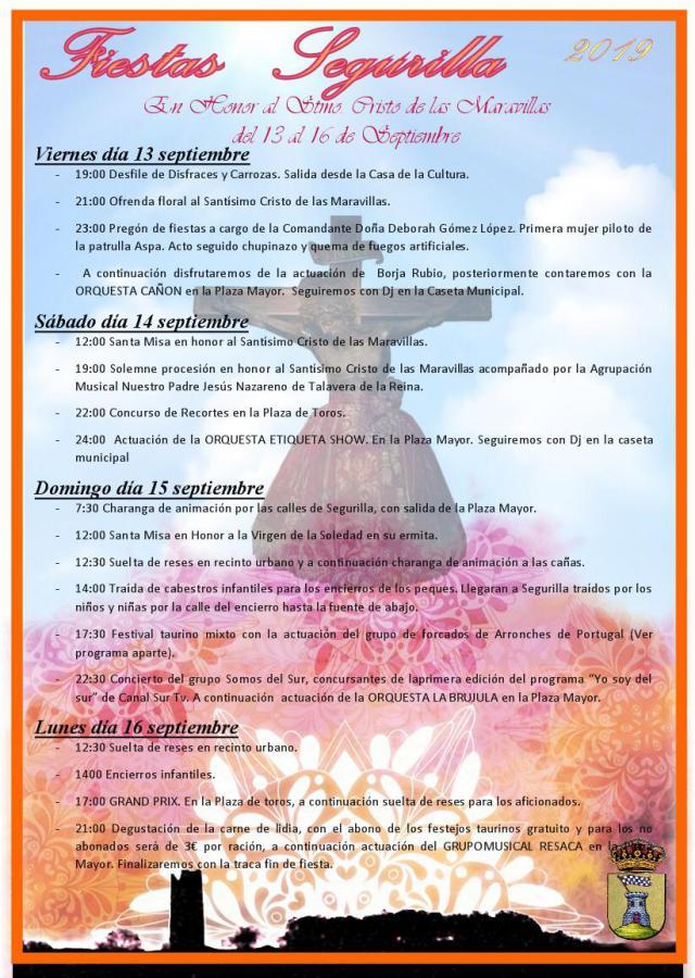 PROGRAMACIÓN | Todo dispuesto para el inicio de las Fiestas en Segurilla