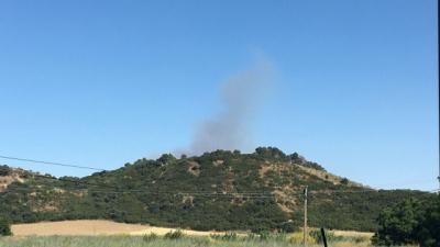 Declarado un incendio en el Cerro Negro
