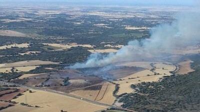 Controlado el fuego declarado en Lezuza este martes
