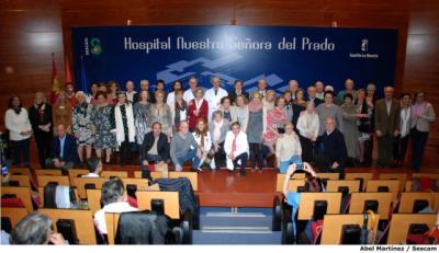 Homenaje a los trabajadores jubilados durante 2017 en el Área Integrada de Talavera