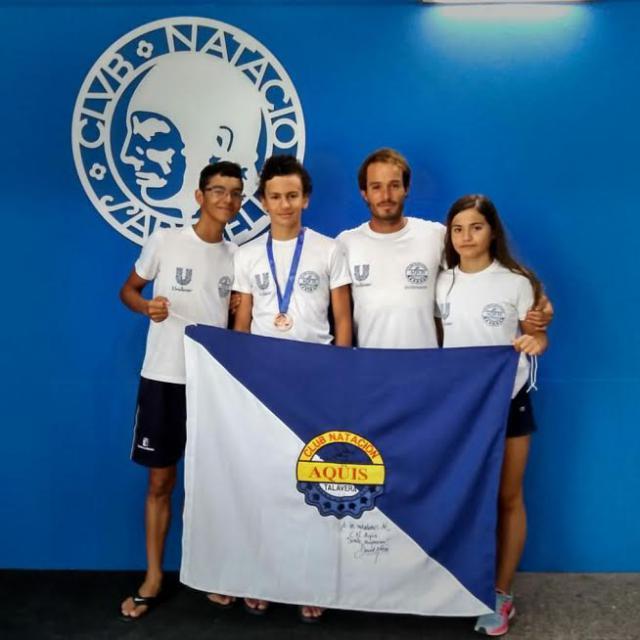 Xito del cn aq is en el vi campeonato de espa a alev n de for Piscina 50 metros pontevedra