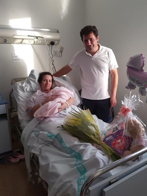 Patricia, primera niña del año 2018 nacida en el Hospital de Talavera