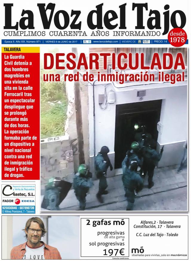 Portada junio | Desarticulada una red de inmigración ilegal -y sin presupuestos en CLM-