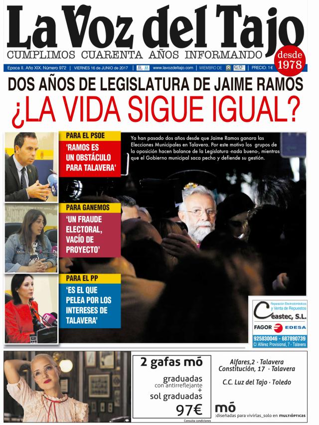 Portada junio | Dos años de legislatura de Jaime Ramos ¿La vida sigue igual? - y el Corpus-