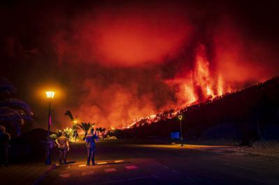 Así se ve la erupción del volcán en La Palma