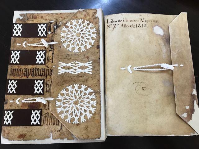 Restauran dos libros de la antigua Universidad de Toledo para su consulta en el Archivo Histórico Provincial