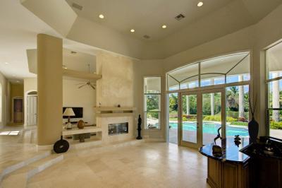 Interior de una vivienda de lujo