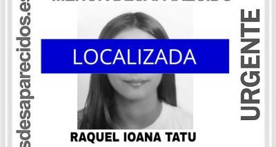 LOCALIZADA | Raquel, la menor desaparecida, ya está en casa