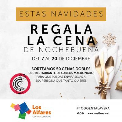 PARTICIPA | Los Alfares sortea 50 cenas dobles de Carlos Maldonado