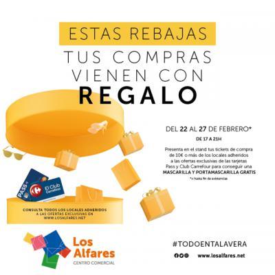 REGALOS | Los Alfares reparte mascarillas y portamascarillas a sus clientes