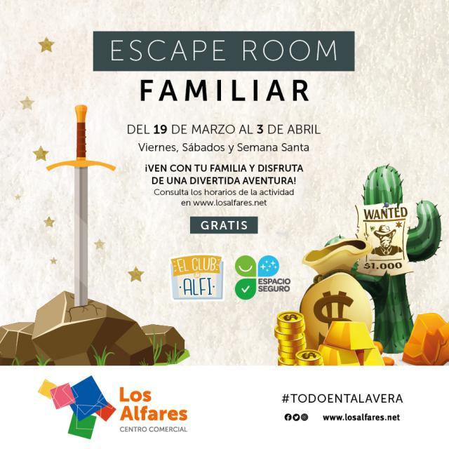 LOS ALFARES | ¿Quieres pasar un rato en familia jugando a un escape room?