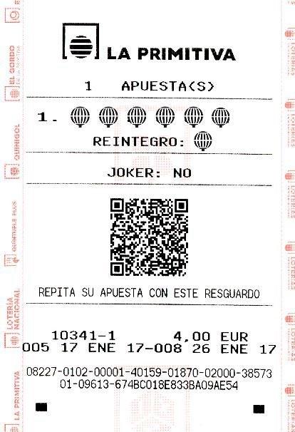 Un acertante de Azuqueca de Henares gana 110.867 euros en el sorteo de La Primitiva