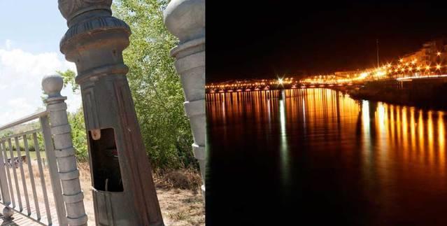 Repuesta la iluminaci�n de la ribera de Tajo propuesta por C's
