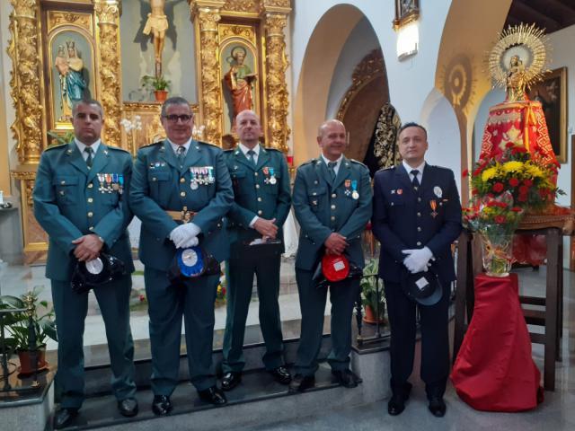 La Guardia Civil celebra el día de su Patrona en Malpica de Tajo (fotos)