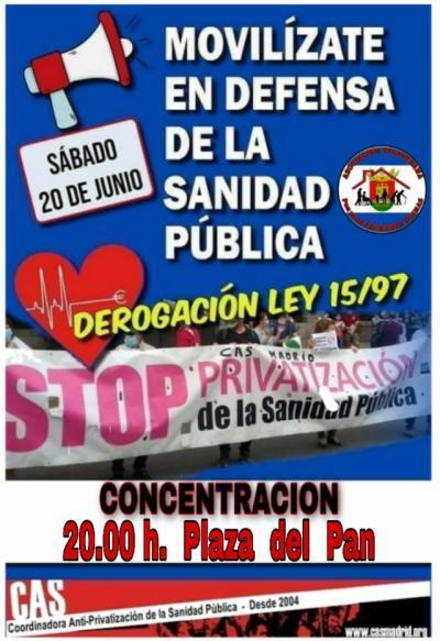 TALAVERA | Convocan una concentración el sábado 20 para defender la sanidad pública
