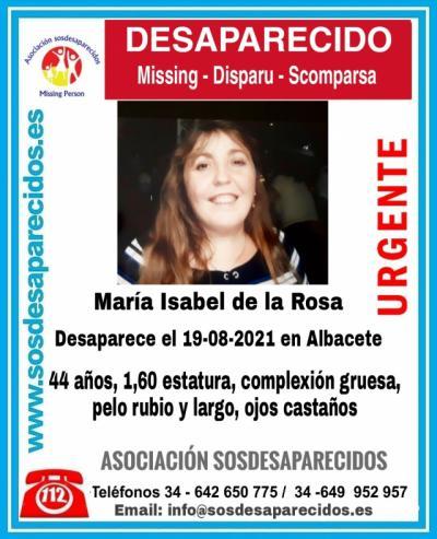 Piden ayuda para encontrar a María Isabel de la Rosa