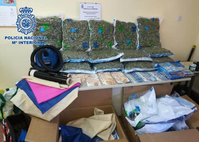 Tres detenidos y 13 kilos de cogollos de marihuana incautados en Añover de Tajo