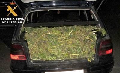 La Guardia Civil detiene a cinco personas con 20 kilos de marihuana