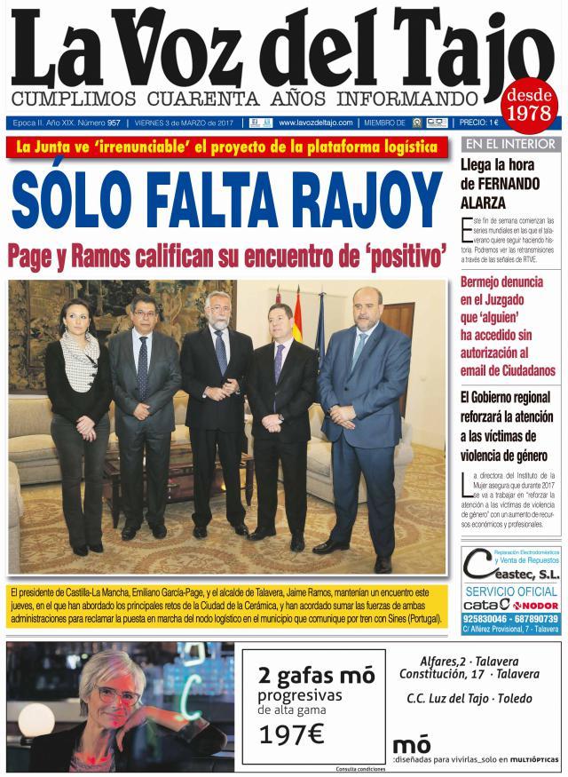 Portada marzo   Reunión Page-Ramos -y plataforma 'irrenunciable'-