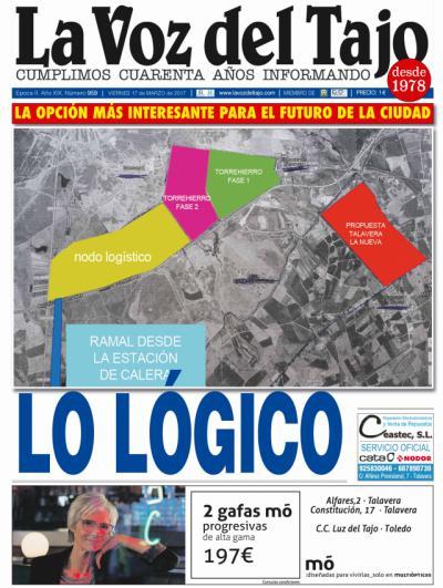 Portada marzo | La ubicación del Nodo Logístico -y entrevista a la consejera Elena de la Cruz-