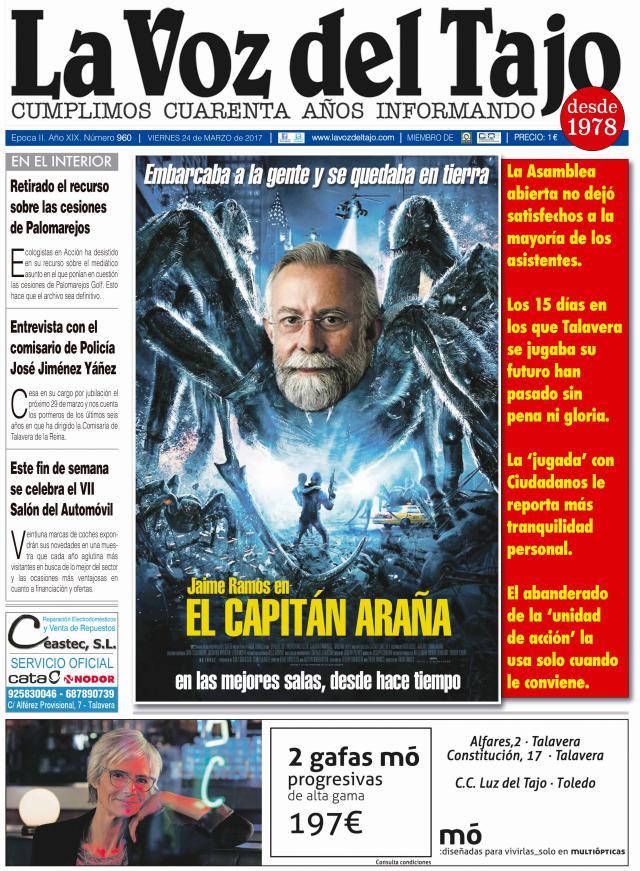 Portada marzo | Jaime Ramos 'El Capitán Araña' -y el bono transporte Talavera-Madrid-