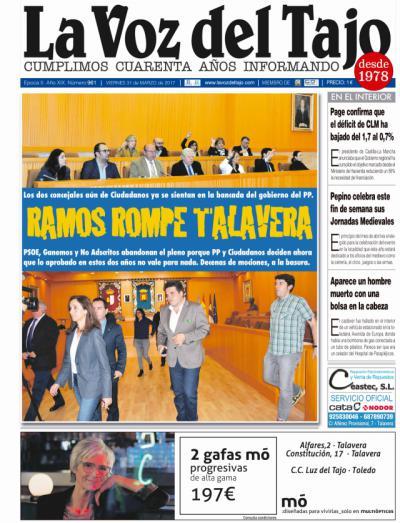 Portada marzo | Ramos 'rompe' Talavera -decenas de mociones a la basura-