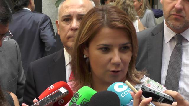 Imagen archivo / García Élez durante la visita del ministro de Fomento a Talavera