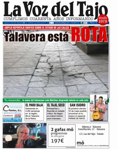Portada mayo | Talavera está 'rota' -Baja el paro y los embalses de Entrepañas y Buendía-