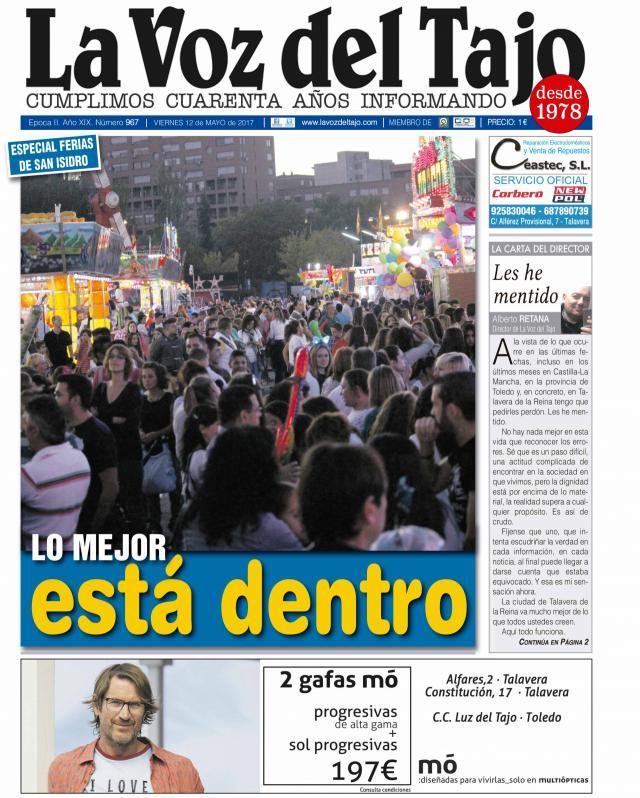 Portada mayo | Talavera está en Ferias -y nuevo trasvase, plaga de mosquitos y el reportaje 'Se Alquila'-