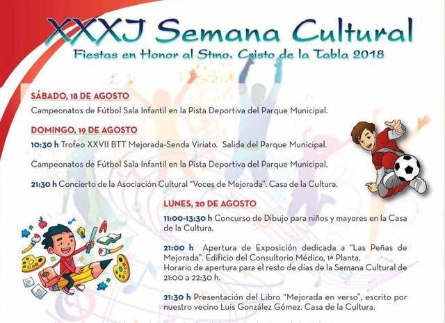 La XXXJ Semana Cultural de Mejorada, creada para el disfrute vecinal
