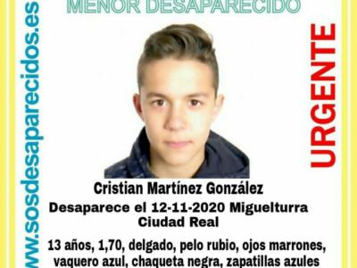 URGENTE | Localizado en buen estado el menor desaparecido en Miguelturra